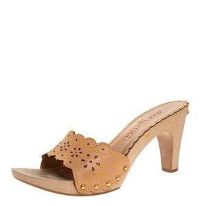 Louis Vuitton Beige Clogs Mules / Sandals